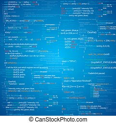 Script - BLue abstract programming code screen Different...