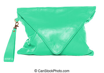 Woman bag isolated on white background teal color - Teal...