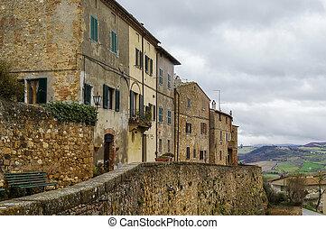Walls of Pienza, Italy