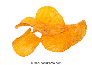 paprika chips isolated