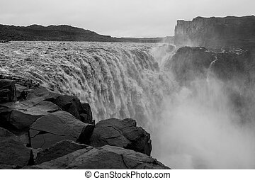 Detifoss waterfall - Detifoss, the most powerful waterfall...