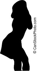 glamour lady silhouette - Silhouette of a glamour woman...