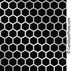 Metal Hexagon Grid