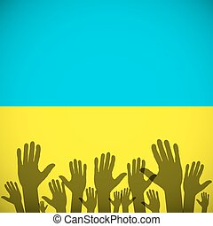 Ukraine Coat art background sign country - Ukraine Coat Arms...