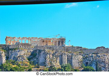 Acropolis view from Athens - Beautiful Acropolis view from...