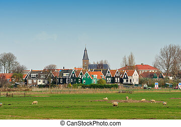 Marken a small village near Amsterdam in The Netherlands