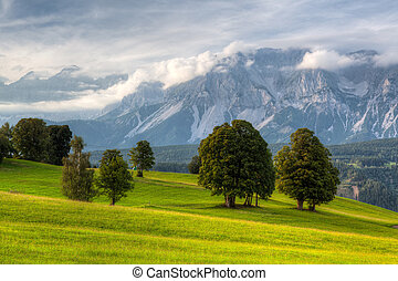 Stunning landscape in the Schladming, Austria