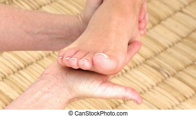 Foot massage in HD