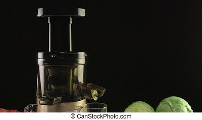 Dolly: Cold press juicer for making fresh vegetable juice on...