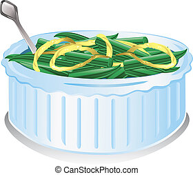 Green Bean Casserole - Illustration of a Green Bean...