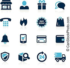 e-Shopping Icons -- Azure Series - Vector icons for your...