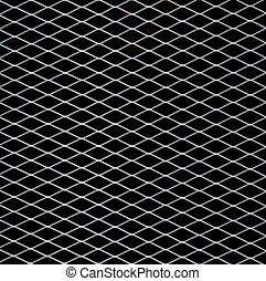 White net on black background