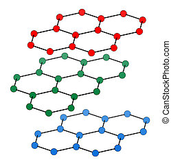 Graphite, crystal structure. Also known as pencil lead....