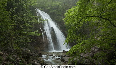 Waterfall Jur-Jur among green fores - Beautiful waterfall...