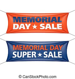 Memorial Day sale banners illustration