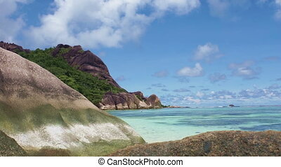 tropical beach on seychelles