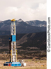 Oil Derrick Crude Pump Industrial Equipment Colorado Rocky...