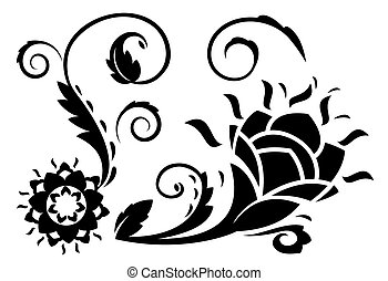 Abstract fantasy flowers illustration