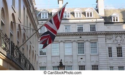 Union Jack Flag - British Union Jack flag at pole in London