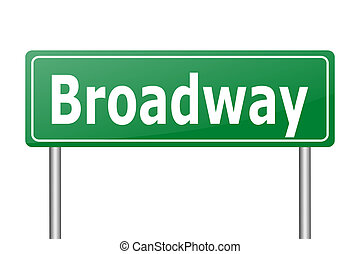 broadway traffic sign