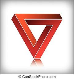 lehetetlen, háromszög,