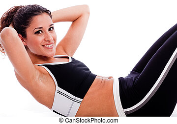 Woman doing Abdomen exercise
