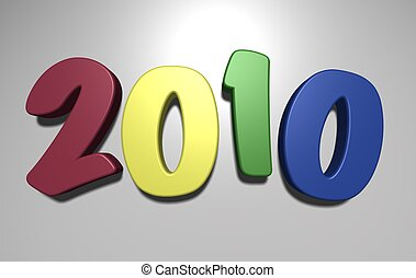 New Year composition - Composition of New Year\'s figures....