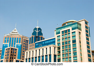 Downtown buildings in Bangalore, India