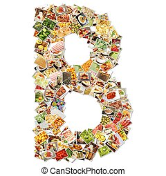 Letter B Uppercase Font Shape Alphabet Collage