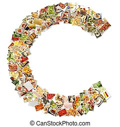 Letter C Uppercase Font Shape Alphabet Collage