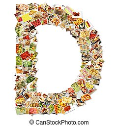 Letter D Uppercase Font Shape Alphabet Collage