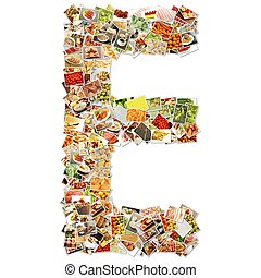 Letter E Uppercase Font Shape Alphabet Collage