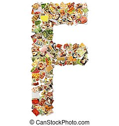 Letter F Uppercase Font Shape Alphabet Collage