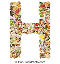 Letter H Uppercase Font Shape Alphabet Collage