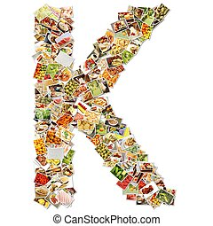 Letter K Uppercase Font Shape Alphabet Collage