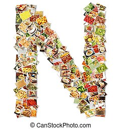 Letter N Uppercase Font Shape Alphabet Collage