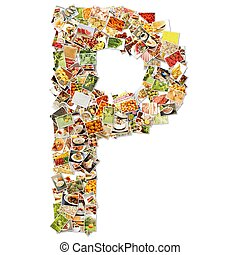 Letter P Uppercase Font Shape Alphabet Collage