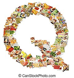 Letter Q Uppercase Font Shape Alphabet Collage