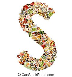 Letter S Uppercase Font Shape Alphabet Collage