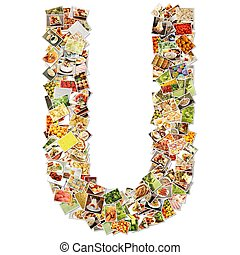 Letter U Uppercase Font Shape Alphabet Collage
