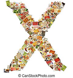 Letter X Uppercase Font Shape Alphabet Collage