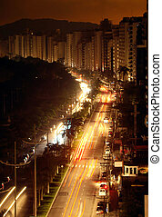 11-10-2009. During a blackout on the city of santos life...