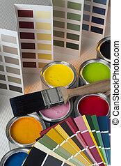 Color, ollas,  -, gráficos, prueba, Decorar, Pintura