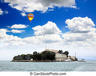 Famous Alcatraz Island in San Francisco USA
