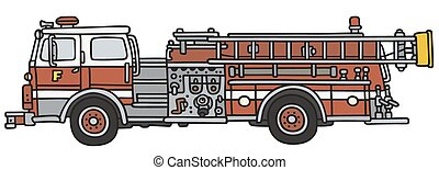 Firetruck - Hand drawing of a classic fire truck - not a...