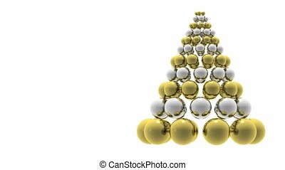 Christmas tree animation with space for copy.
