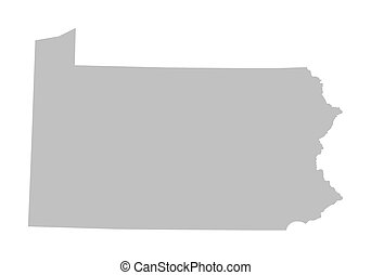 grey map of Pennsylvania