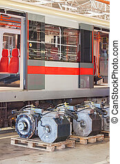 Electro actuators for maintenance of subway wagons in...