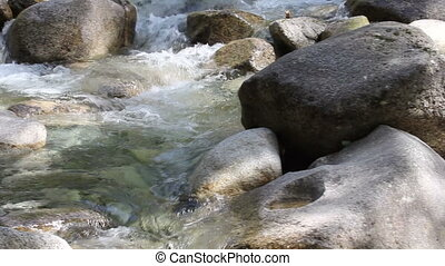 Water Flowing over Rocks Movie