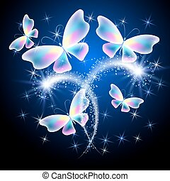 Butterfly and glowing salute